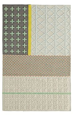 Shop Mixed Weave Rug.  Our Mixed Weave Rug is woven completely by hand and features various blocks of color.  The 100% cotton construction makes it soft yet durable.