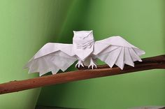 Real Owl (by JuAnC! origami)