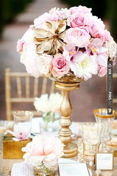 gold and pink wedding ideas | CHECK OUT MORE IDEAS AT WEDDINGPINS.NET | #wedding