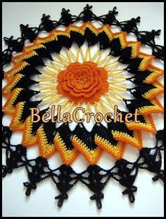 BellaCrochet: Trick or Treat Doily: A Free Crochet Pattern For You