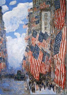 Fourth of July - Childe Hassam, 1916   #VikingUSA