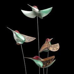 Anna's Hummingbirds by Rex Homan, Māori artist (KRX110402)