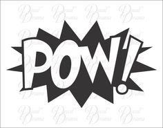 POW! Vinyl Car Decal, Comics, Superman, Batman, Wonder Woman, Graphic Novel #DecalDrama