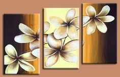 Hand Painted Canvas Flower Oil Painting Modern Acrylic Floral Paintings Wall Art Cuadros Home Decor Bedroom 3 Panel Pictures Multiple Canvas Paintings, Triptych Wall Art, Diy Canvas Art, Tole Painting, Acrylic Art, Flower Art, Art Projects, Abstract Art, Abstract Flowers
