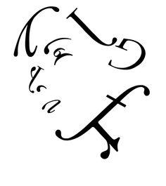 Typographic portrait by Brujula5