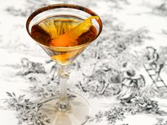 The Martinez   2 oz Old Tom Gin or Genever   1 oz Sweet Vermouth   1/2 oz Maraschino Liqueur   4 Dashes Orange Bitters    Combine the ingredients with ice, stir well, and strain into a chilled cocktail glass. Garnish with a lemon twist and enjoy.