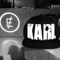 """Personality begins where comparison ends"" - Karl Lagerfeld   #clerigosin #opticalconceptstore #porto #caps #snapback #richkidscaps #richkidsofficial #karl #karllagerfeld #christmas #shopping #christmasgiftideas #christmasshopping"
