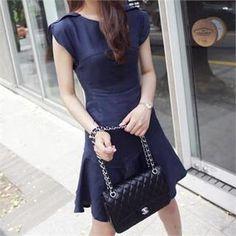 midnightCOCO - Linen A-Line Dress