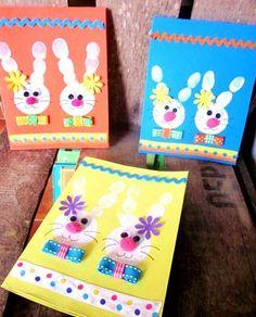 Carte de Pâques Empreintes de doigt