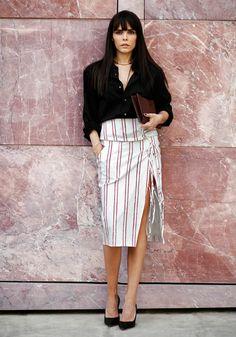 cool Altuzarra skirt Evangelie. Paris. #StyleHeroine