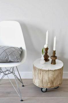 Virlova Style: [Deco] Un toque natural en tu hogar: troncos reciclados