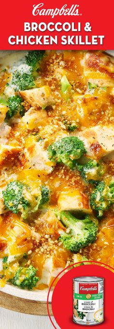Broccoli and Chicken Skillet Recipe ***Broccoli and chicken skillet - decent for a quick & easy meal, but nothing special***Broccoli and chicken skillet - decent for a quick & easy meal, but nothing special Supper Recipes, Great Recipes, Favorite Recipes, Healthy Supper Ideas, Quick Supper Ideas, Easy Recipes, Campbells Recipes, Chicken Skillet Recipes, Cooking Recipes