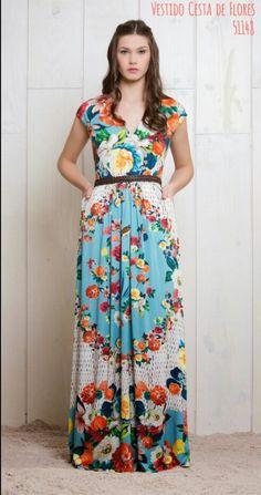Cesta de flores azul Stunning Dresses, Dress Outfits, Gowns, Summer Dresses, Womens Fashion, Dream Dress, Dress Long, Templates, Outfits