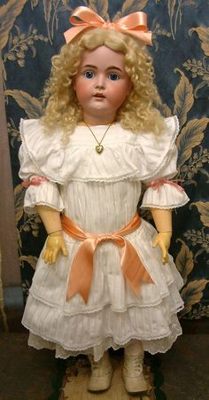 """The Bigger The Better? 33"""" Kestner 171 Antique Doll JUST MAGNIFICENT! from kathylibratysantiques on Ruby Lane"""