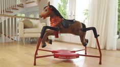 "Huggable plush face and neck! 3 levels of riding — walk, trot, gallop —trigger different realistic riding sounds Includes comb accessory and carrot that prompts eating sounds when ""fed"". For years. Play Based Learning, Learning Games, Radio Flyer, Ride On Toys, Educational Games, Diy Toys, 6 Years, Diy For Kids, Prompts"