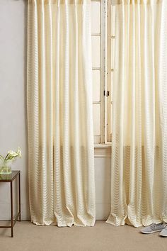 Scalloped Lace Curtain - anthropologie.com