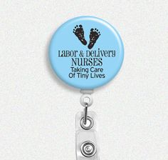 Labor and Delivery Nurse Badge Reel baby by PandaLoveShop on Etsy, $7.50
