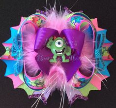 Over the Top Monsters Inc Bow