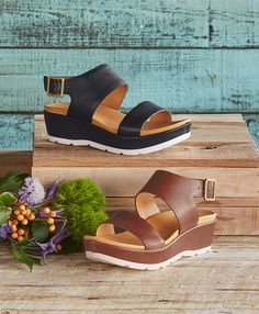 Khloe Sandals - The next best thing to being barefoot, these supple and sporty, Kork-Ease® sandals comfort with cushioned footbeds and supple, leather straps.