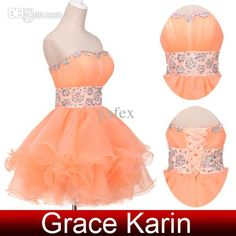 Wholesale Prom Dresses - Buy New Arrival Crystals Strapless Prom Dresses Ball Gown Voile Short Party Gown Lace Up CL4793, $40.66 | DHgate