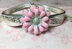Silverware Jewelry, Vintage spoon handle bracelet , $35 available at Vintage Wareables @ Facebook