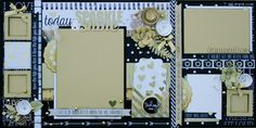 12x12 layout with lots of gold sparkly accents!