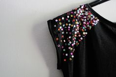 be miau now: DIY: paillette shoulders