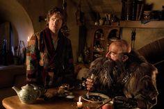 "Martin Freeman as Bilbo Baggins, left, and Graham McTavish as Dwalin in ""The Hobbit: An Unexpected Journey. (New Line Cinema / MGM / Warner Bros.)"