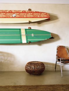 Super cool surfboard hooks! Photo via Modern Findings.