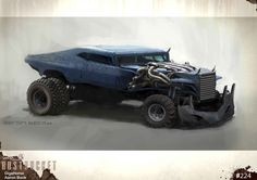 Tagged with madmax, furyroad; Shared by Fury Road Concept Art by WETA Workshop Monster Trucks, Death Race, Mad Max Fury Road, Workshop Design, Automotive Art, Dieselpunk, Concept Cars, Cool Cars, William Gibson