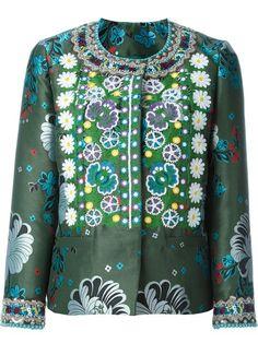 ETRO Floral Jacquard Embroidered Jacket. #etro #cloth #jacket
