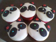 Cupcakes Pandas Fondant