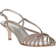 b1ebf1ee6 PELLE MODA Firefly Evening Sandal Platinum Leather ( 170) ❤ liked on  Polyvore featuring shoes