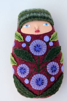 swaddled baby- winter flowers