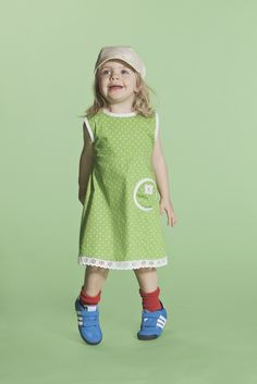 Pallo Dress- Green Flowers
