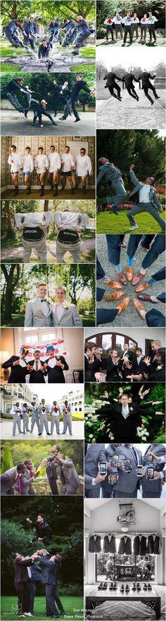 Wonderful Weddings: funny groomsmen wedding photo ideas / www.deerpear...