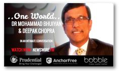 #WhosWho in the World & Who's Who in America, Prof #MohammadBhuiyan is the CEO of the #NobelPeaceLaureatesSummit2015 in Atlanta and President & CEO of #YunusCreativeLab, Inc. Watch his #ONEWORLD conversation with #DeepakChopra now on #NEWSWIREFM: newswire.fm/one_world/video.php?guest_id=293