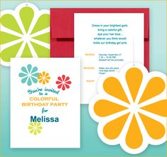 Colorful Birthday Party - Free Printables with Editable Invite