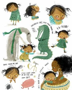 In our Illustrating Children's Books course, Art Director Zoë Tucker and I teach that a compelling character, combined w Art And Illustration, Illustrations Vintage, Character Illustration, People Illustrations, Design Illustrations, Fashion Illustrations, Illustration Children, Coffee Illustration, Animal Illustrations