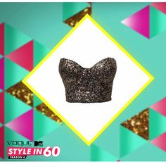 Switch from a casual look to a party night look by pairing your pleated skirt with an embellished crop top!  Want to know how else to play with pleats? Watch Vogue Eyewear MTV #Stylein60: mtvindia.com/style