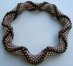 Bead Crochet Pattern:  Large Dimensional Recessed Diamonds  Bead Crochet Pattern. $7.50, via Etsy.