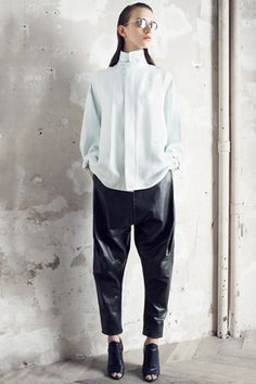 Really want a pair of baggy leather pants. Damir Doma