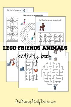 LEGO Friends Animals activity book | One Mama's Daily Drama --- Free printable activity book featuring mazes and LEGO Friends