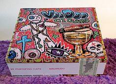 Custom Hand Painted Cigar Box Art – Voo Doo Art – Cigar Art - Cigar Box – Box - Smoking Decor - Fine Art – Cigar Box Art - Stash Box by TimothyDaviesArt on Etsy