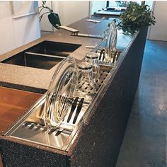 #mulpix Canal equipado em aço inox revestido de pedra #concept #new #product #arquitetura #architecture #tecnology #made #chef #cool #food #inox #interiordesign #design #art #madeinitaly #kitchen #stone #home #place #eat #gourmet #gourmand #new #style