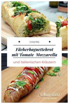 Heute möchte ich dir mal das Fingerfood Rezept vom Fächerbaguettebrot vorstellen – eine perfekte Beilage zum Grillen. Das Fächerbaguettebrot mit Tomate und Mozzarella kann sowohl als Veggie Fingerfood Vorspeise wie auch eine Art Bruschetta serviert werden. #grillenbeilage #grillenvegetarisch #bruscetta