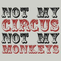 Not my circus not my monkeys - great for a big family house.
