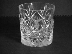 Crystal Scotch (Rocks) Glass Made in Edinborough Scotland 3 & 1/8 in Tall