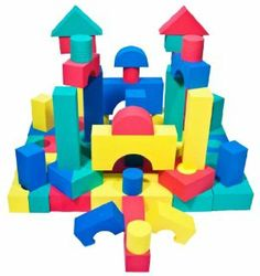 68 Piece foam Wonder Blocks for Children w/ Tote - Soft, Safe & Quiet by Wonder Tent; Wonder Balls; Wonder Mat; Wonder Blocks. $34.99. Much safer and much more quiet than plastic or wooden blocks!. Great gift idea for classrooms! Kids love building blocks.. 68 piece set. More than 8 different shapes and 4 different colors!. Comes with a tote! Carry your blocks anywhere!. Made from non-recycled, non-toxic, light weight, durable, and high density EVA foam: durable, hard to peel ...