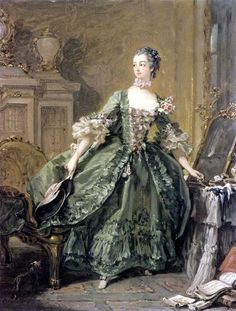 François Boucher, Madame de Pompadour at her dressing table, 1750, Oil on canvas (Rothschield Collection)